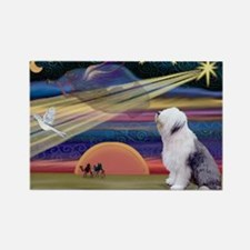 XmasStar/Old English 1 Rectangle Magnet (10 pack)