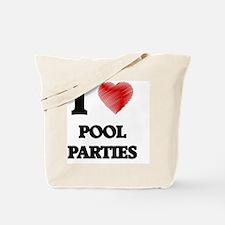 I Love Pool Parties Tote Bag