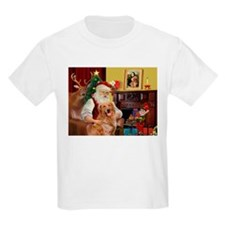 Santas Gold Retriever T-Shirt