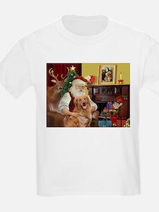 Santas Gold Retriever T-Shirt