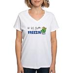 Season to be Freezin' Women's V-Neck T-Shirt