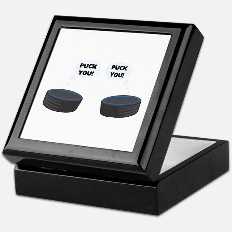 Puck You Hockey Keepsake Box