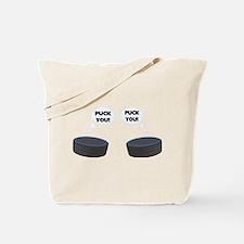 Puck You Hockey Tote Bag