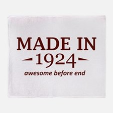 Made in 1924 Throw Blanket