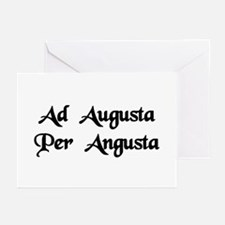 """""""Ad Augusta Per Angusta"""" Greeting Cards (Pk of 10)"""