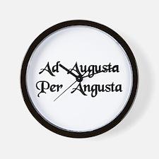 """Ad Augusta Per Angusta"" Wall Clock"