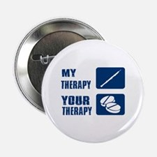 """Oboe My Therapy 2.25"""" Button"""