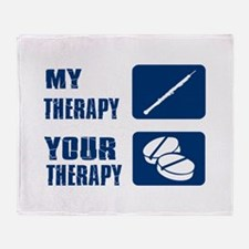 Oboe My Therapy Throw Blanket