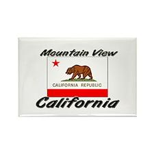 Mountain View California Rectangle Magnet