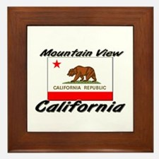 Mountain View California Framed Tile