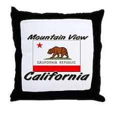 Mountain View California Throw Pillow