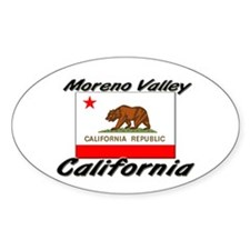 Moreno Valley California Oval Decal