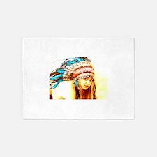 Indian warrior 12 5'x7'Area Rug