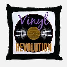 Vintage Vinyl Revolution Album Throw Pillow