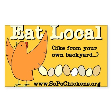 Eat Local Rectangle Sticker
