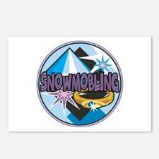 Funny Snowmobile Postcards (Package of 8)