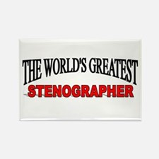 """""""The World's Greatest Stenographer"""" Rectangle Magn"""