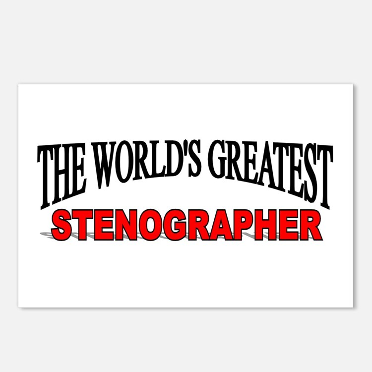 """""""The World's Greatest Stenographer"""" Postcards (Pac"""
