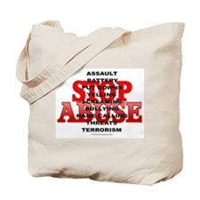 Cute Stop domestic violence abuse awareness Tote Bag