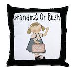 Going to Grandmas Throw Pillow