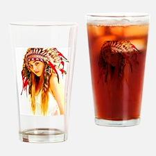 Indian warrior 26 Drinking Glass