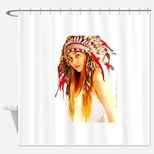 Indian warrior 26 Shower Curtain