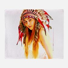 Indian warrior 26 Throw Blanket