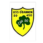 USS O'Bannon (DD 450) Postcards (Package of 8)