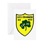 USS O'Bannon (DD 450) Greeting Cards (Pk of 10)