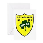 USS O'Bannon (DD 450) Greeting Card