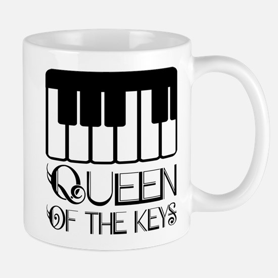 Piano Queen Of Keys Stainless Steel Travel Mugs