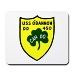 USS O'Bannon (DD 450) Mousepad