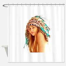 Indian warrior 27 Shower Curtain