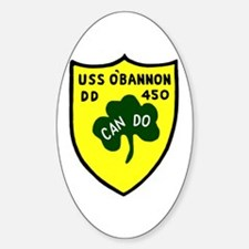 USS O'Bannon (DD 450) Oval Decal