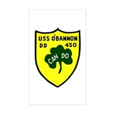 USS O'Bannon (DD 450) Rectangle Decal