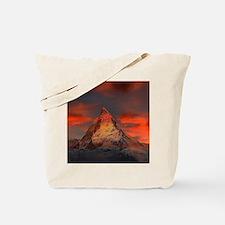 Iconic Alpine Mountain Matterhorn at Suns Tote Bag