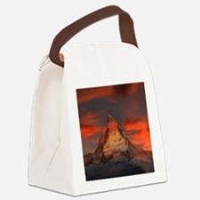 Iconic Alpine Mountain Matterhorn Canvas Lunch Bag