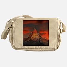 Iconic Alpine Mountain Matterhorn at Messenger Bag