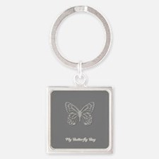 Cute Chic Butterfly Square Keychain
