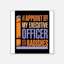 Executive officer in radishes Sticker