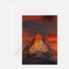 Iconic Alpine Mountain Matterhorn a Greeting Cards