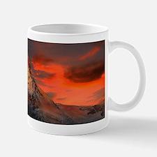 Iconic Alpine Mountain Matterhorn at Sunset Mugs