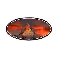 Iconic Alpine Mountain Matterhorn at Sunset Patch