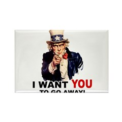 Want You to Go Away Rectangle Magnet (10 pack)