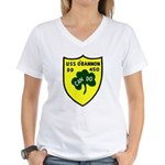 USS O'Bannon (DD 450) Women's V-Neck T-Shirt