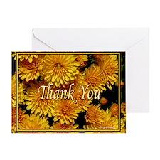 Fall Mums Thank You Card