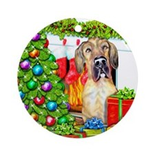 Great Dane Stockings Brindle UC Ornament (Round)