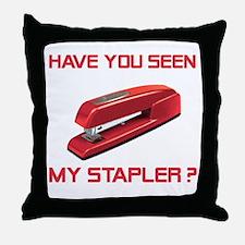Red Stapler Throw Pillow