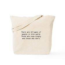 10 Types Of People Tote Bag