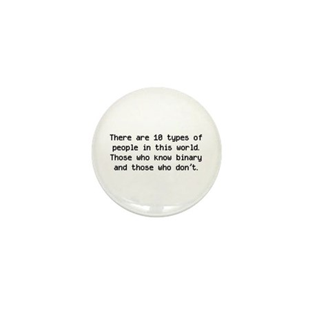 10 Types Of People Mini Button